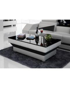 Table basse design en similicuir CUBE V2