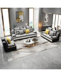 Canapé 3+2+1 places en Tissu ou simili-cuir TRAPANI