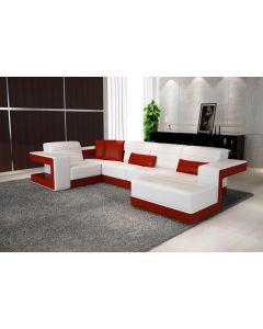 Canapé en U cuir ou tissu TERNI XL
