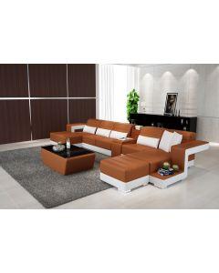 Canapé en U cuir ou tissu TERNI XL V2