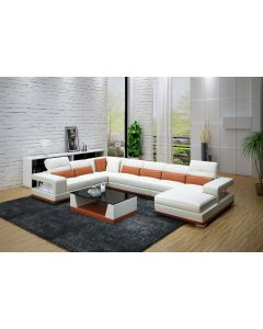 Canapé en U cuir ou tissu NOVARE XL
