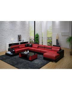 Canapé en U cuir ou tissu BOLZANO XL