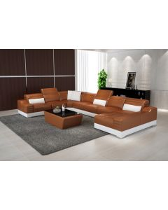Canapé en U cuir ou tissu PLAISANCE XL