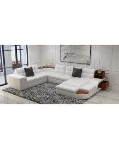 Canapé en U cuir ou tissu ALEXANDRIE XL
