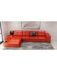Canapé en L cuir ou tissu ALEXANDRIE V2