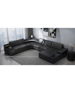 Canapé en U cuir ou tissu PESARO XL