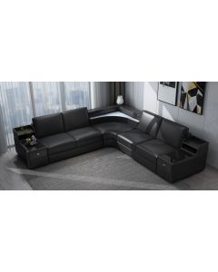 Canapé en L cuir ou tissu PESARO
