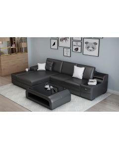 Canapé en L cuir ou tissu PESARO V2