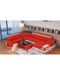 Canapé en U cuir ou tissu BARLETTA XL