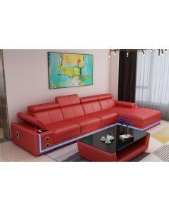 Canapé en L cuir ou tissu BRINDISI V2 + Led