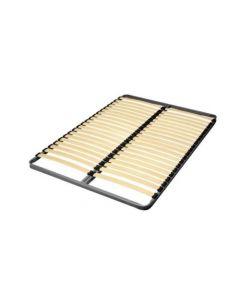 Sommier à lattes en bois et cadre métallique